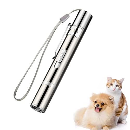 LED Pointer, EWIGE Spielzeug für Katzen Hund Haustier mit USB Wiederaufladbar interaktives Fangspiel (1-Stück)