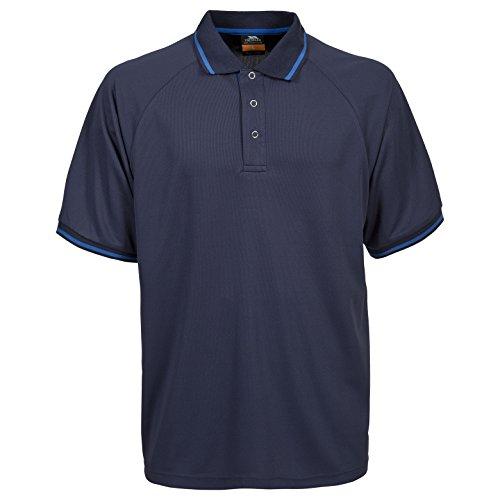 Trespass Bonington Polo Homme, Bleu Foncé, FR : M (Taille Fabricant : M)