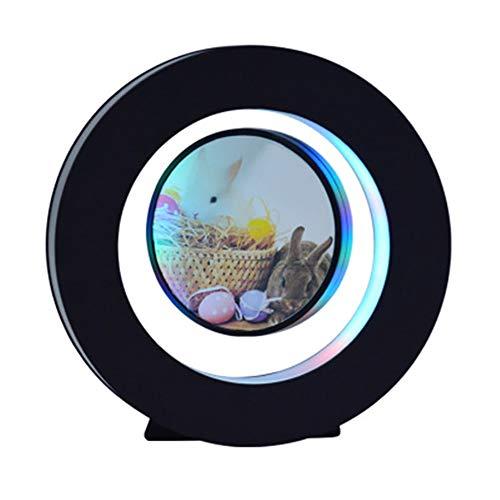 Globe Globe Magnetische wereldkaart, ronde fotolijst met drijvende wereldbol, magnetisch, roterend, levitatiebol, pedagogisch, voor cadeau, thuis, kantoor of decoratie