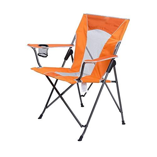 XYZMDJ Silla Plegable portátil con Soporte del Resto del Brazo y de la Copa Llevar, al Aire Libre Silla de Pescar portátil, Playa Confortable Silla de salón (Color : C)