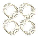 JZK 20 aros grandes de bambú de 25 cm madera para macramé, aros de madera para atrapasueños, anillos de corona de flores, para colgar en la pared, anillos de madera