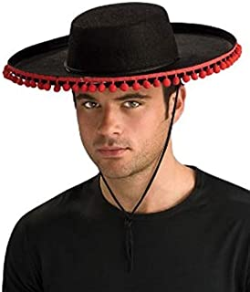 ADULT Spanish Costume Hat (Pom poms are redder than appear in photo)