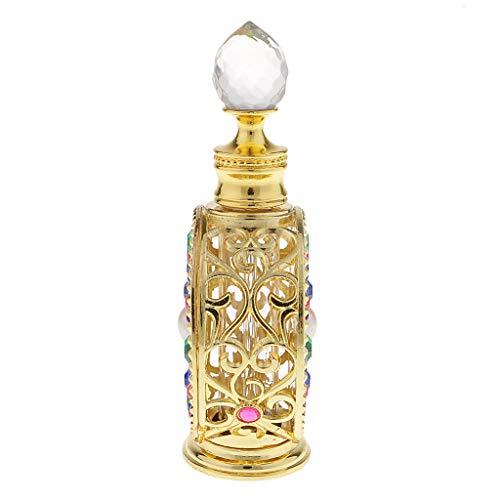 F Fityle 10ml /12ml Vaporisateur de Parfum Bouteille Verre Or - 10ml