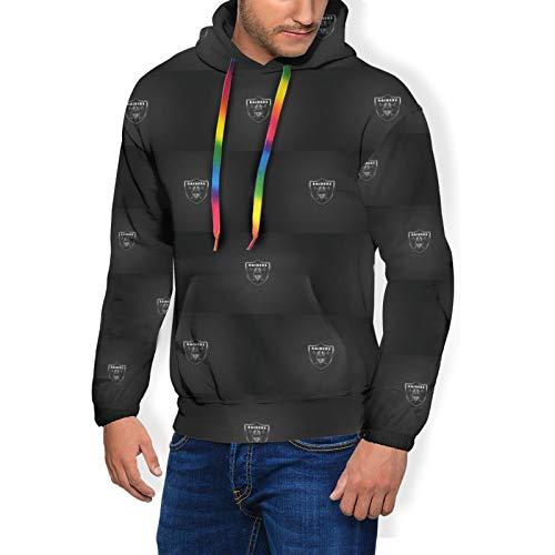 MAHENSHANGM Oakland-Raider&s Men Women Novetly Hoodies Pullover Hooded Sweatshirts Tops Blouse Medium Black