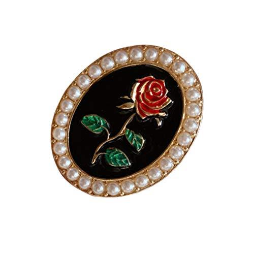 Holibanna Fleur Perle Émail Broche Pins Badge Clip Corsages Breastpin Vêtements Boucles Écharpe Partie Robe Mariée Bijoux Cadeaux de Demoiselle Dhonneur Broche Pins pour Les Femmes