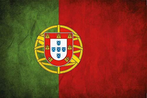 FS land vlag Portugal nationale vlag blikken bord gewelfd Metal Sign 20 x 30 cm