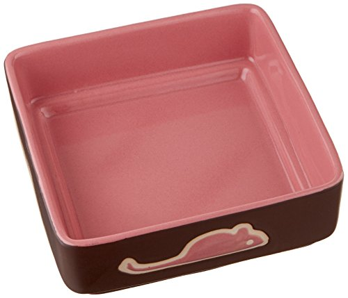 Ethical Pet Products (Spot) CSO6928 Four Square Ceramic Cat Dish, 5-Inch, Pink