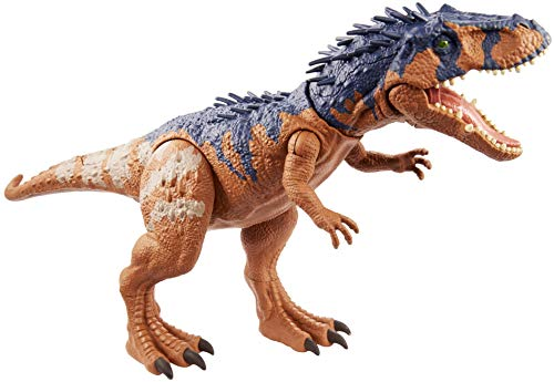 Jurassic World Massive Biters Meekerorum Larger-Sized Dinosaur Action Figure with Tail-Activated Strike and Chomping Action, , Movable Joints, Movie-Authentic Detail; Ages 4 and Up [Amazon Exclusive]
