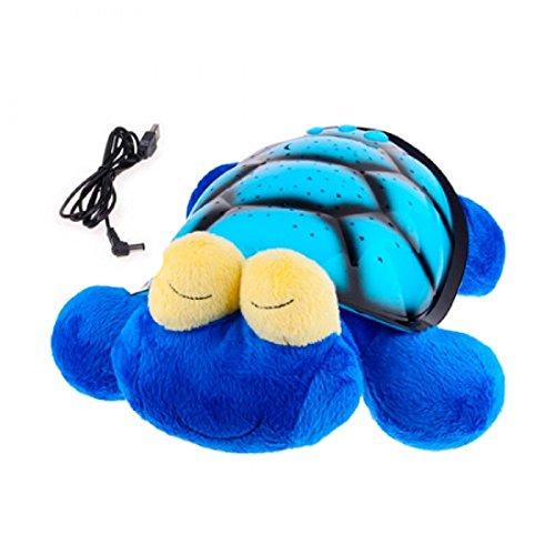 Kuschel Schildkröte Einschlafhilfe mit sanften Sternenlicht LED Projektionen