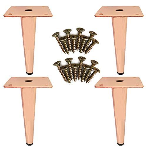 YuBao 4 stuks 7,8 '' Gold meubelpoten, modern boekenrek voeten sofa poten kast kast metaal tafel voeten accessoires/TV bed poten