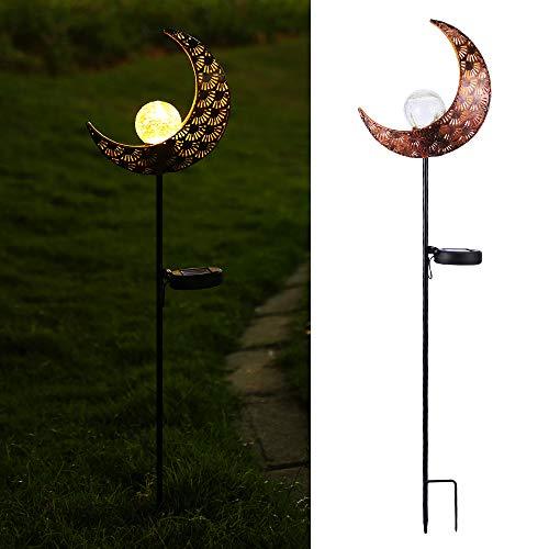 Solarleuchten Garten, Infankey Solarlampen für Außen mit Mond Design, IP65 Wasserdicht, Automatische Ein/Aus(Licht Sensor), Solar Gartenleuchte für Garten, Rasen, Gehweg
