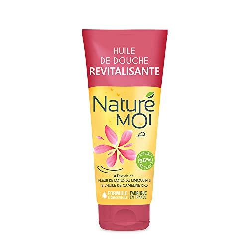 Naturé Moi - Huile de douche revitalisante à l'extrait de fleur de lotus du Limousin et à l'huile de cameline bio - Hydratant et revitalisant pour la peau - 200 ml
