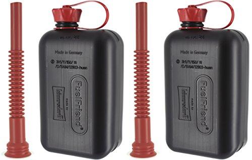 FuelFriend®-Big MAX. 2.0 litros + caño Flexible - Bidón con aprobación de la Onu - 2 Piezas por un Precio Especial