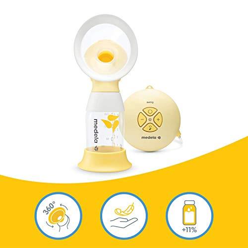 Medela Swing Flex sacaleches eléctrico simple, extractor de leche con embudo Flex (talla S y M...