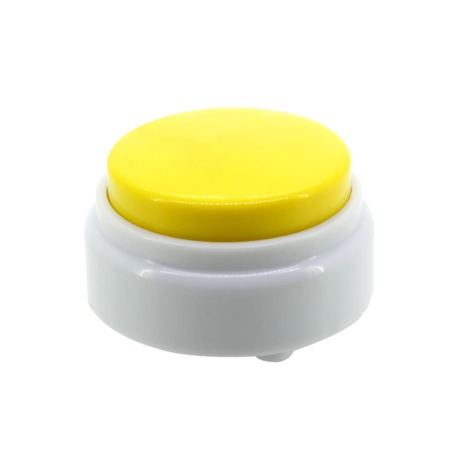 Netural Mini Size Sound Button-20S Record Talking Button-High Sound Quality Answer Buzzer-Recording Press Button(Yellow+White)