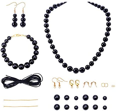 SUNNYCLUE DIY 1 Set Round Beaded Stone Jewellry Making Starter Kit Beading Starter Kits Chunky product image