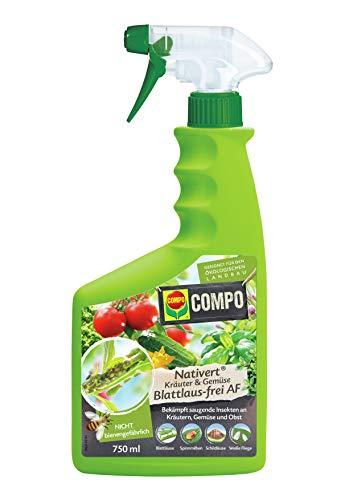 Compo Nativert Kräuter & Gemüse Blattlaus-frei AF, Bekämpfung von saugenden Insekten an Kräutern und Gemüse, 750 ml
