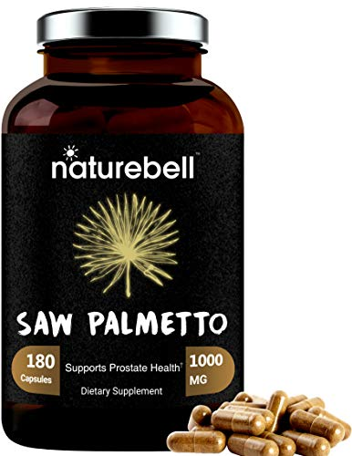 Maximum Strength Saw Palmetto Supplement, 1000mg Per Serving, 180 Capsules, Strongly Promotes Prostate Health and Urinary System, Non-GMO and Made in USA