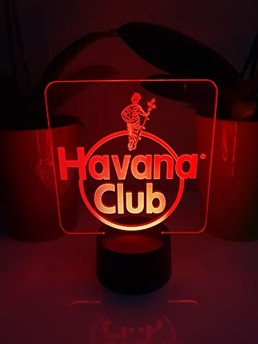 Havana Club Led Tischlampe Neonschild Neu 3D Rum Neon 6 verschieden Farben