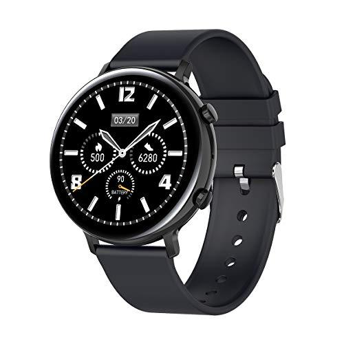 Reloj inteligente,1.3' pantalla táctil completa Fitness Tracker con monitor de sueño HR Podómetro altavoz BT notificaciones mensaje de llamada rastreador de actividad, IP68 impermeable reloj deportivo