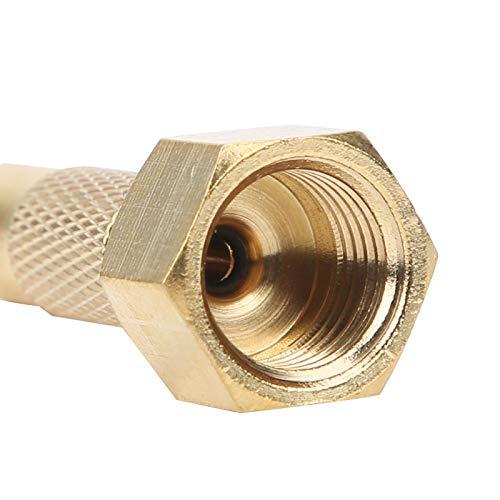 Válvula de inflado de neumáticos de latón, función de bloqueo Válvula de latón Rosca interna NPT duradera para automóvil, motocicleta para bicicleta