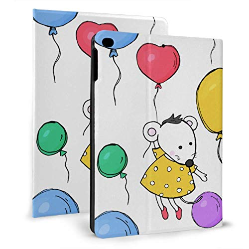 Ipad Mini Cover Cute Mouse Hold Ballons Ipad Case For Teens For Ipad Mini 4/mini 5/2018 6th/2017 5th/air/air 2 With Auto Wake/sleep Magnetic Ipad Travel Case