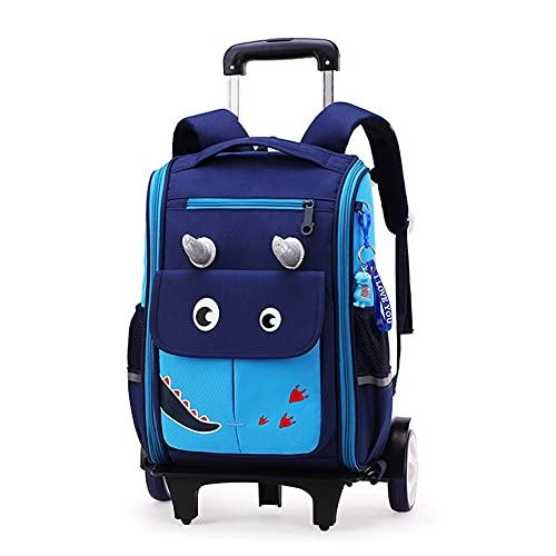 WYHQL Zaino Trolley Scuola, Ragazzo Ragazza Zaini Scuola Elementare Carrello Casual Zaino da Viaggio Borsa per la Scuola con Ruote Zaino per Bambini (Color : Blue, Size : 30x15x40cm)