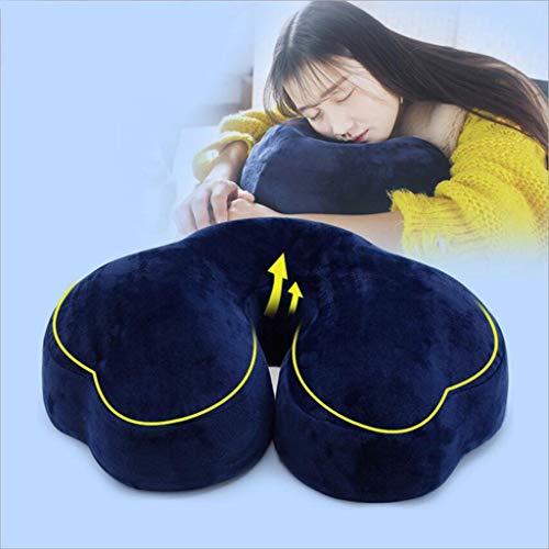 QINYONGFENG Komfort mit langsamem Rückprall Memory Foam Core Kreative wolkenförmige Anti-Apnoe-Kissen Stuhl Auto Lendenkissen
