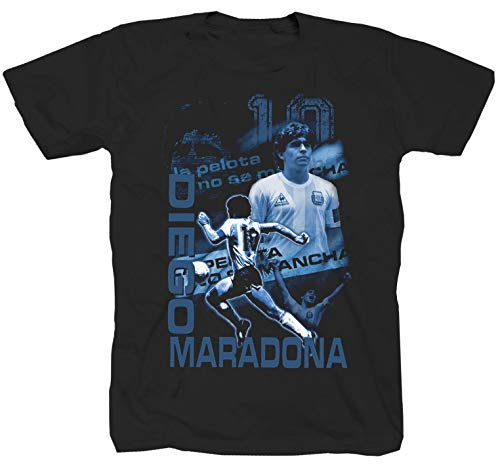 Camiseta de manga corta con diseño de Diego Maradona Boca Juniors Barcelona...