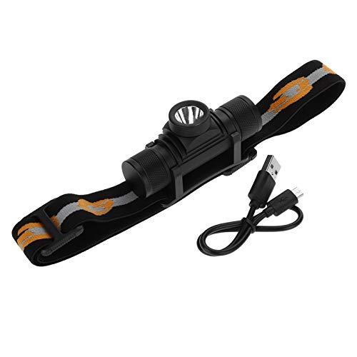 Linterna LED, Faro Recargable por USB Linterna Frontal de Ciclismo Impermeable para Actividades nocturnas al Aire Libre para Acampar para el hogar para Reparaciones de automóviles