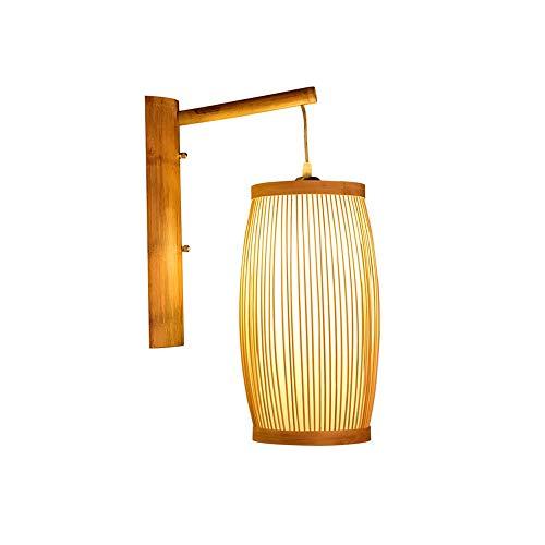Chino antiguo de bambú tejido de bambú lámpara de pared creativa estilo japonés dormitorio hotel detside bambú de bebé lámpara de pared lámpara de pared pared pared colgando lámpara de bambú japonés.