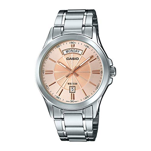Casio Enticer Analog Rose Gold Dial Men's Watch-MTP-1381D-9AVDF (A1132)