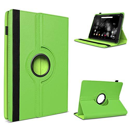 UC-Express Tablet Hülle kompatibel für TrekStor Primetab P10 Tasche Schutzhülle Hülle Schutz Cover 360° Drehbar, Farbe:Grün