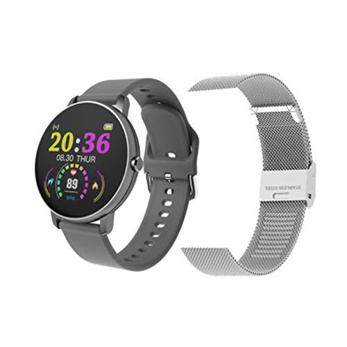 ZGLXZ 2021 P8Y Bluetooth Smart Montre Smart Bracelet Femme Touch Touch Femme Ronde Catégorie Cardiaque Tendance Artérielle Fitness Tracker Exercice iOS Android,H
