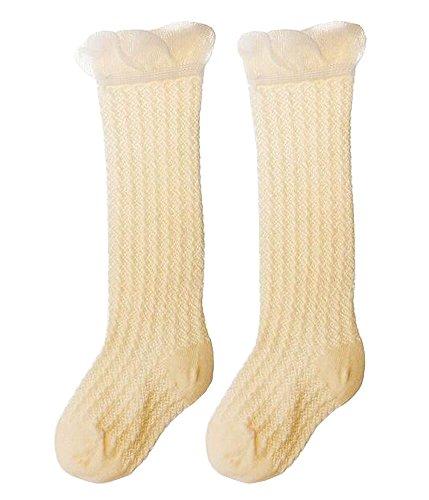 2 Paires bébé Knee High Bas Tube Socks pour enfants Jaune