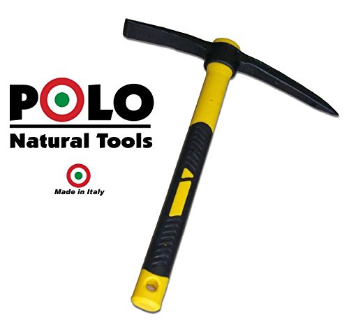 SPACE-SHOP Picozza con Ascia Forgiata Polo Natural Tools da Scavo Punta Penna Metaldetector