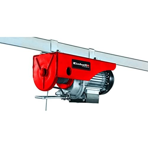 Einhell TC-EH 250-18 Argano elettrico (230 V, 50 Hz, 500 W, portata senza rullo guida 125 kg, portata con rullo guida 250 kg, cavo 18 m)