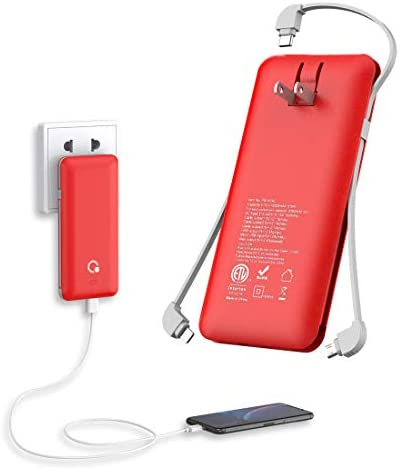 10000mAh Portable Charger Ultra Slim Power Bank 4 Output and Dual Input External Battery Pack product image