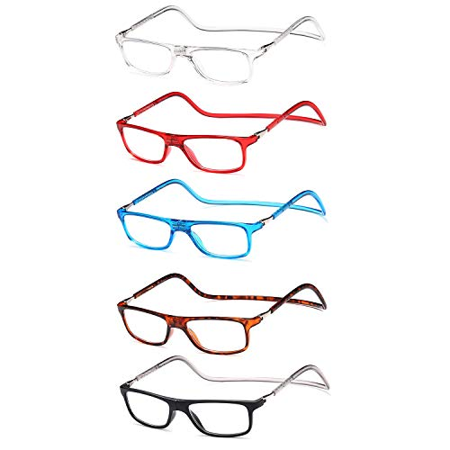 Newvision NV2904 leesbril met magneet, opvouwbaar, licht, magneetsluiting +3.00 Colori Di Mix