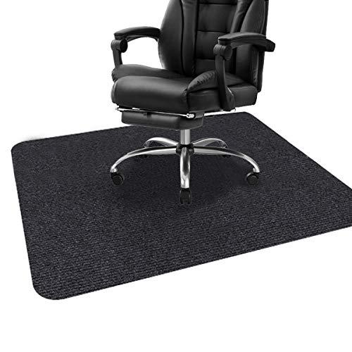ping bu Stuhlmatte, Schreibtischstuhlmatte für Hartholzböden, Bodenschutzmatte, Bodenmatte für Bürostuhl, Mehrzweck-Stuhlteppich für Zuhause (90 x 120 cm, schwarz)