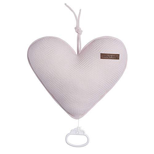BO Baby's Only - Herzförmige Spieluhr fur Babyzimmer - Twinkle, Twinkle Little Star - 25x22 cm - für Mädchen - Klassisch Rosa