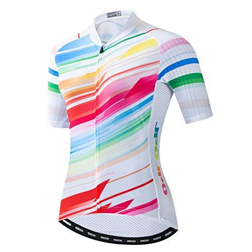 weimostar Maillots de ciclismo para mujer, señora de la bicicleta camisetas mtb...