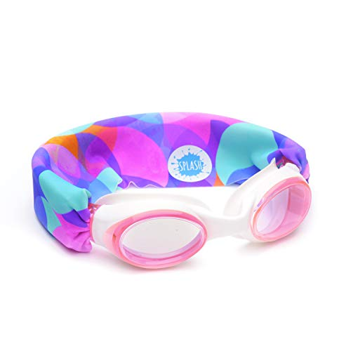 SPLASH SWIM GOGGLES - Bubbles - Fun, Fashionable, Comfortable - Fits Kids and Adults - Won't Pull Your Hair - Easy to Use - High Visibility Anti-Fog Lenses - ORIGINAL PATENT PENDING DESIGN