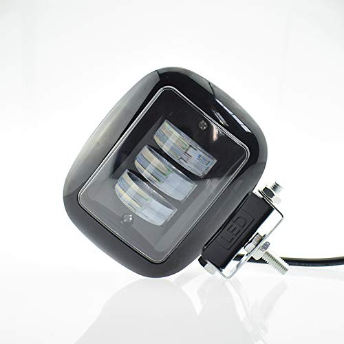 Phares de moto LED, phare antibrouillard, phare de moto 12v 2000lm 6500K éclairage auxiliaire blanc