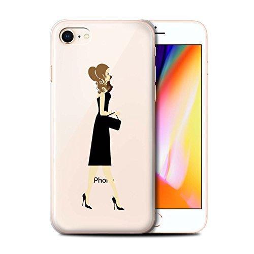 Telefoonhoesje voor Apple iPhone SE 2020 Sass/Sassy Klein Zwart Jurk Chique Ontwerp Transparant Helder Ultra Slim Dun Hard Back Cover