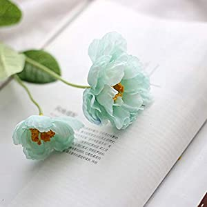 MEIHON 6pcs/lot Artificial Silk Poppies Flowers Silk Poppy Flower for Home Wedding Party Decoration (Tiffany Blue)