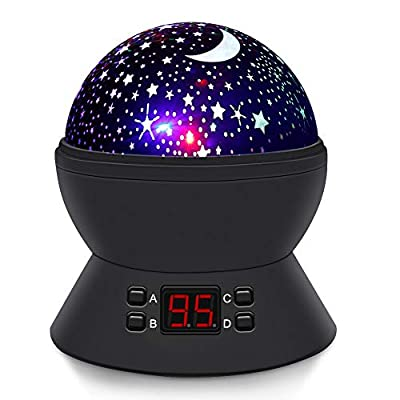[UPGRADE] MOKOQI Rotating Star Sky Projection Night Lights Toys Table Lamps with Timer Shut Off & Color Changing For 1 Year Old Baby Girls Boys Bedroom Christmas Gift Baby Nursery Lights