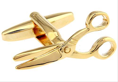 XKSWZD Gemelli Forbici Gemelli in Ottone Color Oro