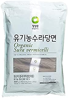 Chung Jung One Organic Sura vermicelli Sweet Potato Glass Noodle 1.76 lbs(Pack of 1)