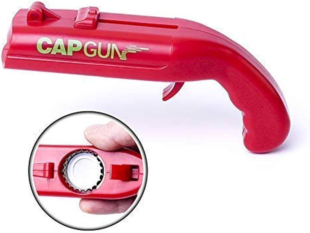Cap Gun Launcher Shooter Beer Bottle Opener Beer Drink Openers Shoots Over 5 Meters By Risepenny Red